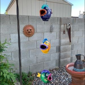 Hanging Hand Painted Gourds into Tropical Fish